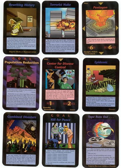 carte degli illuminati the 90 s illuminati card
