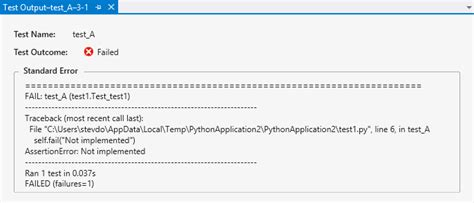 python tutorial unit testing your code with the unittest unit testing for python visual studio microsoft docs