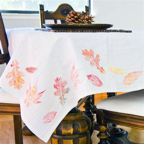 best 28 diy christmas decorations popsugar smart paper diy fall leaf tablecloth popsugar smart living
