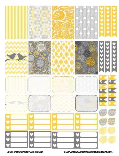 yellow printable stickers free yellow and gray planner stickers everybody wants to