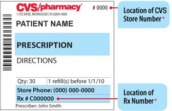 printable prescription labels the store number is at the top of the prescription label