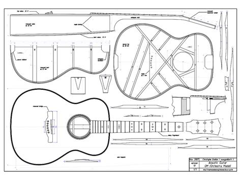 guitar building templates grellier guitars downloads