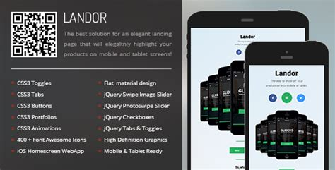 themeforest appbar mobile tablet responsive template landor mobile tablet responsive template themeforest