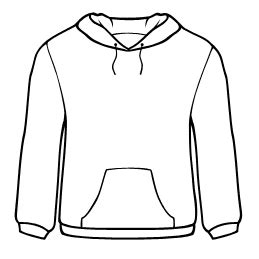 Black Hoodie Outline by Free T Shirt Design Templates From Designcontest