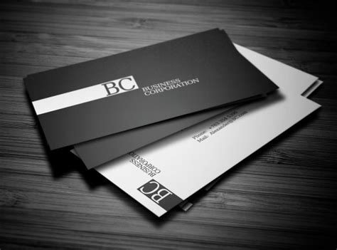 Namecard Kode Kartu Nama 1 Desaincetak 20 brilliant black and white business cards colorlava