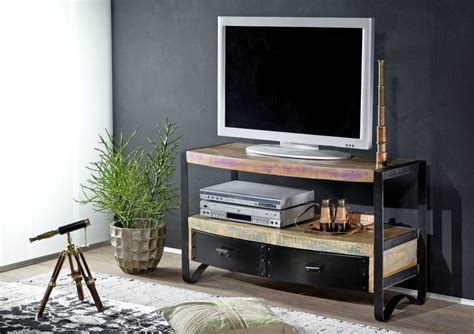 tv board industrial tv m 246 bel aus altholz harzite