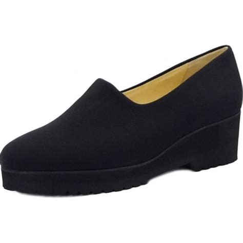 black comfortable shoes peter kaiser aix ladies black stretch wide fit