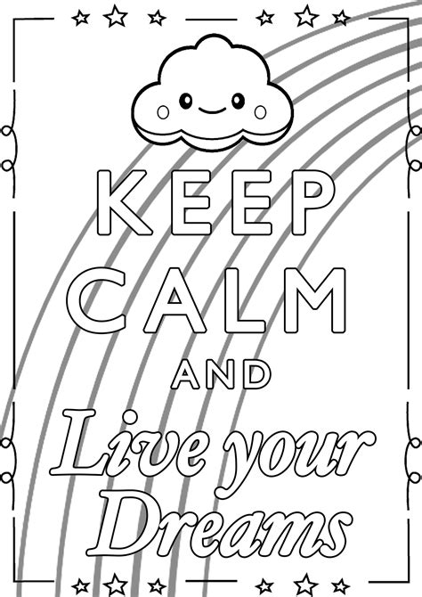 live coloring keep calm and live your dreams keep calm and