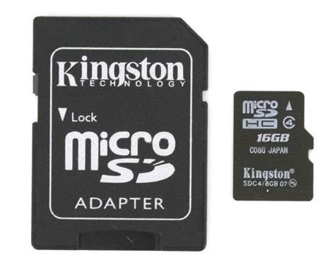 Micro Sd 4gb V Non Adaptor kingston micro sd sdhc memory card class 4 with size