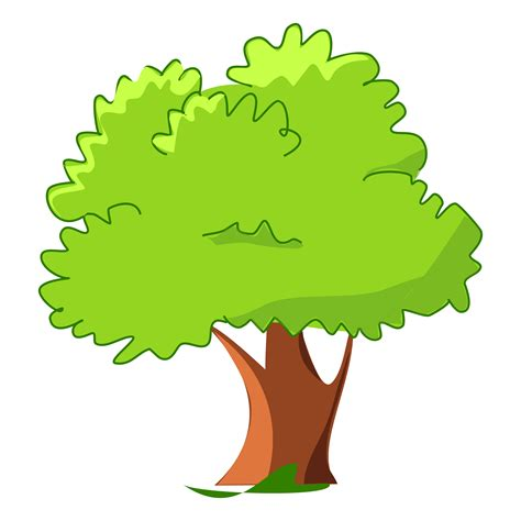 Delightful Green Christmas Tree #4: Tree-cartoon-png-12.png
