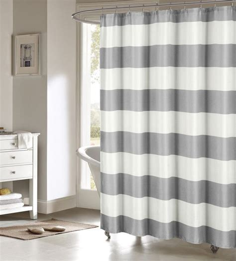 large striped curtains toto gray large white stripes striped fabric shower