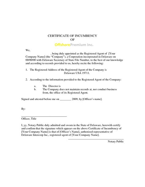 incumbency certificate form format pushapps co