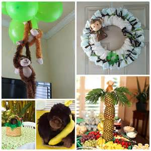 handmade baby shower decorations diy monkey baby shower ideas crafty morning