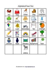 alphabet chart printables for children free a4