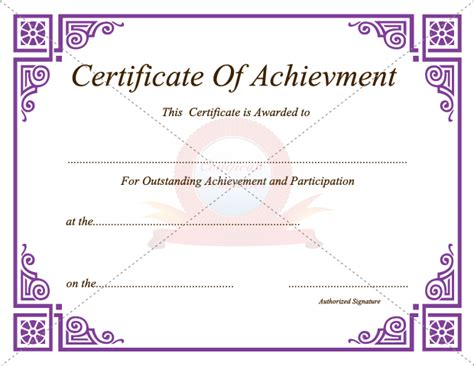achievement awards templates certificate of achievement template sadamatsu hp