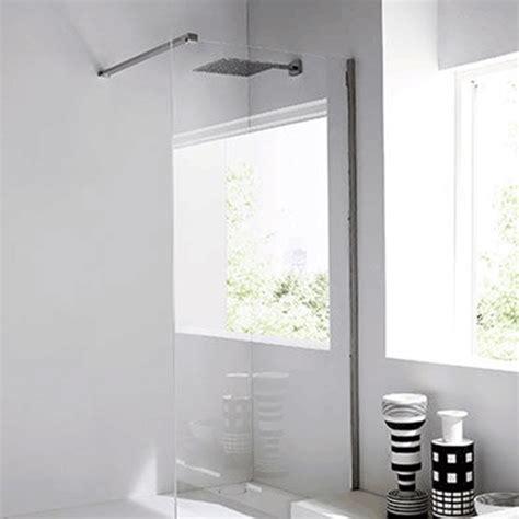 paraschizzi vasca da bagno parete paraschizzi doccia in vetro e acciaio unico by rexa
