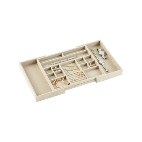 stackers medium expandable jewelry storage tray the