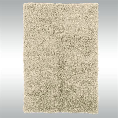 Natural Flokati Wool Shag Area Rugs Wool Area Rugs