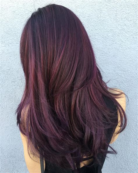 purple brown hair color 50 shades of burgundy hair color maroon wine