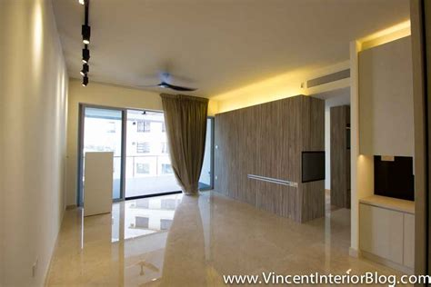 Entrance Door Design by Singapore Condominium Parc Seabreeze Renovation By Raymond