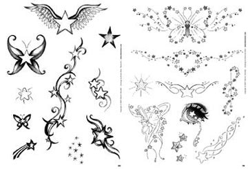 tatuaggi stelle sfumate con lettere edizioni 3ntini c japan magazine