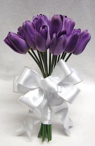 Tulip Artificial By Elie Gallery tulip flower bouquet purple and white www pixshark
