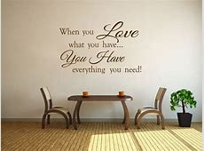 When You Love... Family Wall Art Quote Vinyl Wall Art ... Wood Wallpaper Bedroom