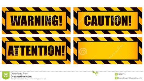 Warning Signs Royalty Free Stock Photo Image 18697715 Warning Label Template Free