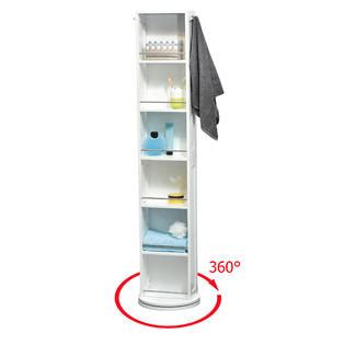swivel storage cabinet with mirror evideco 9906100 swivel storage cabinet organizer tower white free standing linen tower mirror