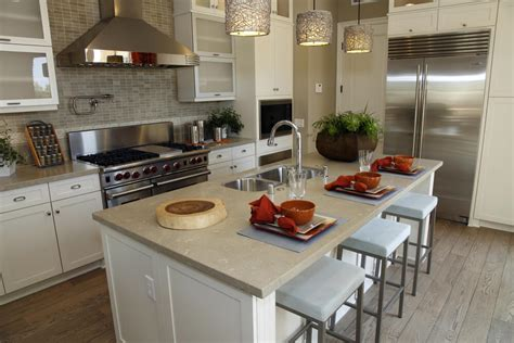 kitchen islands with seating for 3 39 fabulous eat in custom kitchen designs
