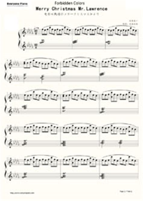 partition piano ryuichi sakamoto merry christmas  lawrence