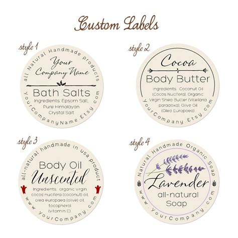 S Secret Torso Tag Label predesigned personalized labels bath and 60 pk style and handmade soaps