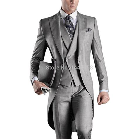 Handmade Mens Suits - best selling 2016 custom mens suits italian tailcoat gray