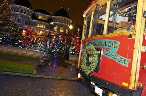 trolley holiday lights tour vancouver lonely planet