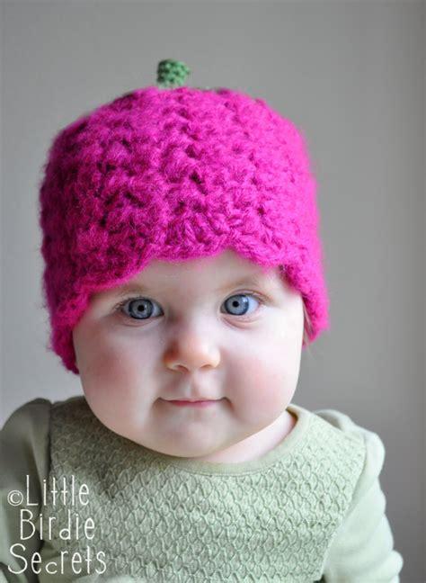 crochet pattern cute hat raspberry or strawberry free crochet pattern and a