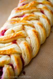 Iced raspberry danish braid with homemade pastry using the quick