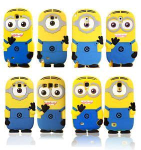 Minion Samsung Note3 3d soft minions rubber protective for samsung galaxy