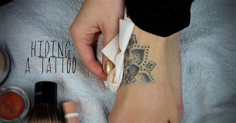 tattoo with eyeliner and hairspray tattoo coverup with drugstore makeup tattoos pinterest
