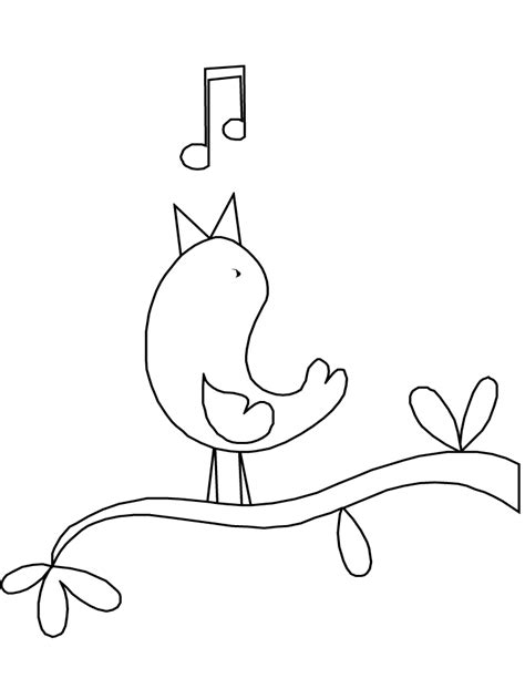 coloring pages of birds singing printable birds sing animals coloring pages