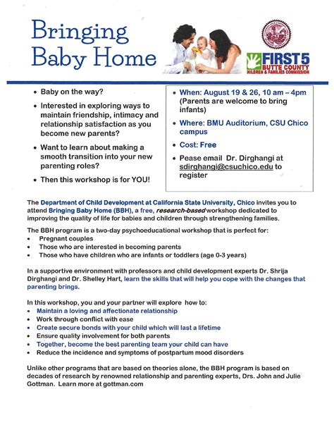 bringing baby home workshop for new and expecting parents