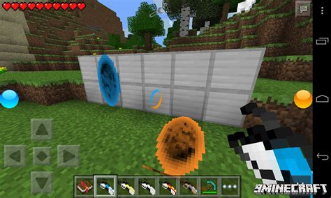 mod in minecraft pocket edition portal gun 2 mod for mcpe 9minecraft net