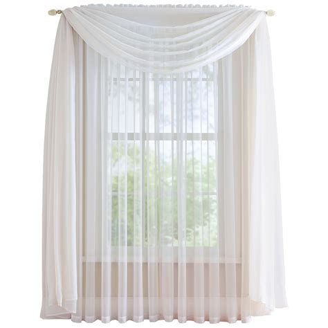 elegant sheer curtains elegant sheer curtain scarf by collections etc ebay