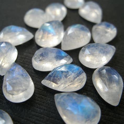 gemstone cabochon rainbow moonstone pear cut by