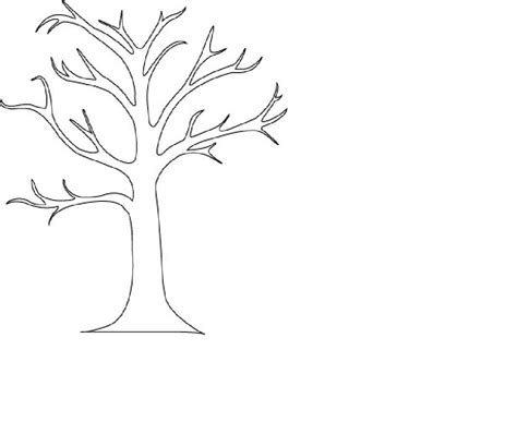 printable tree without leaves coloring pages