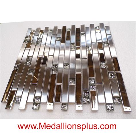 stainless steel and glass tile backsplash stainless steel and glass backsplash medallionsplus