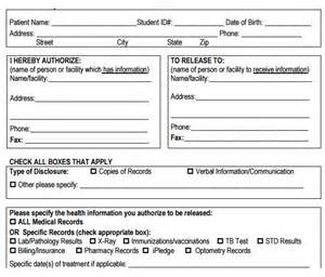 Release Of Records Template by Sle Records Release Form 9 Free