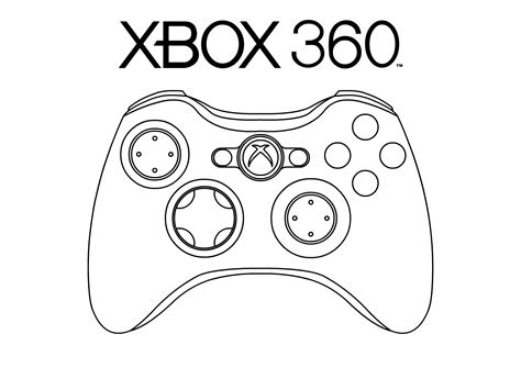 coloring pages of xbox xbox 360 pad by oloff3 on deviantart