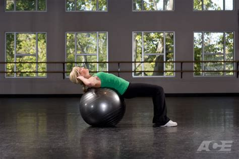 ace fit ab exercises stability ball sit ups crunches