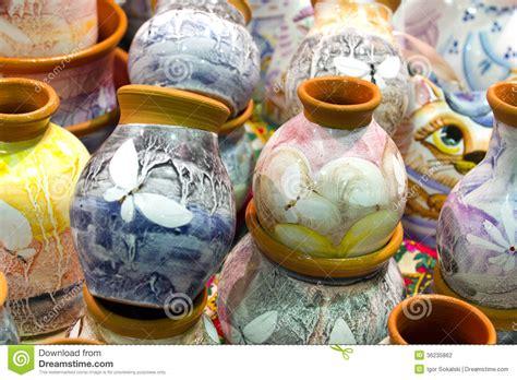 10 Things Made Of Ceramic - handmade painted ceramics stock photo image of loam