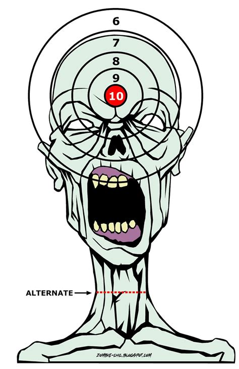 printable zombie face targets survivor edc free zombie target